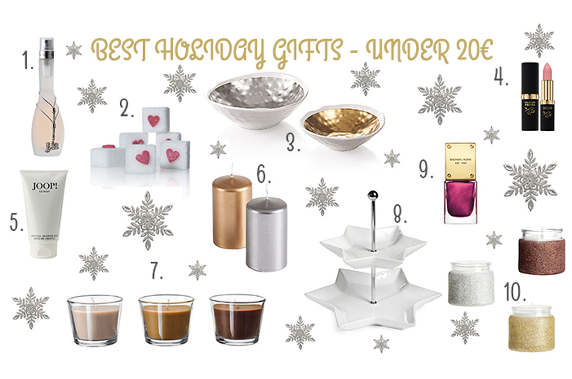 Holiday Gift Guide - Best presents under 20€ | Naomella