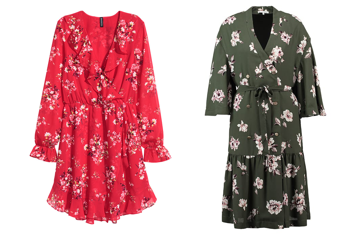 Shopping floral dresses