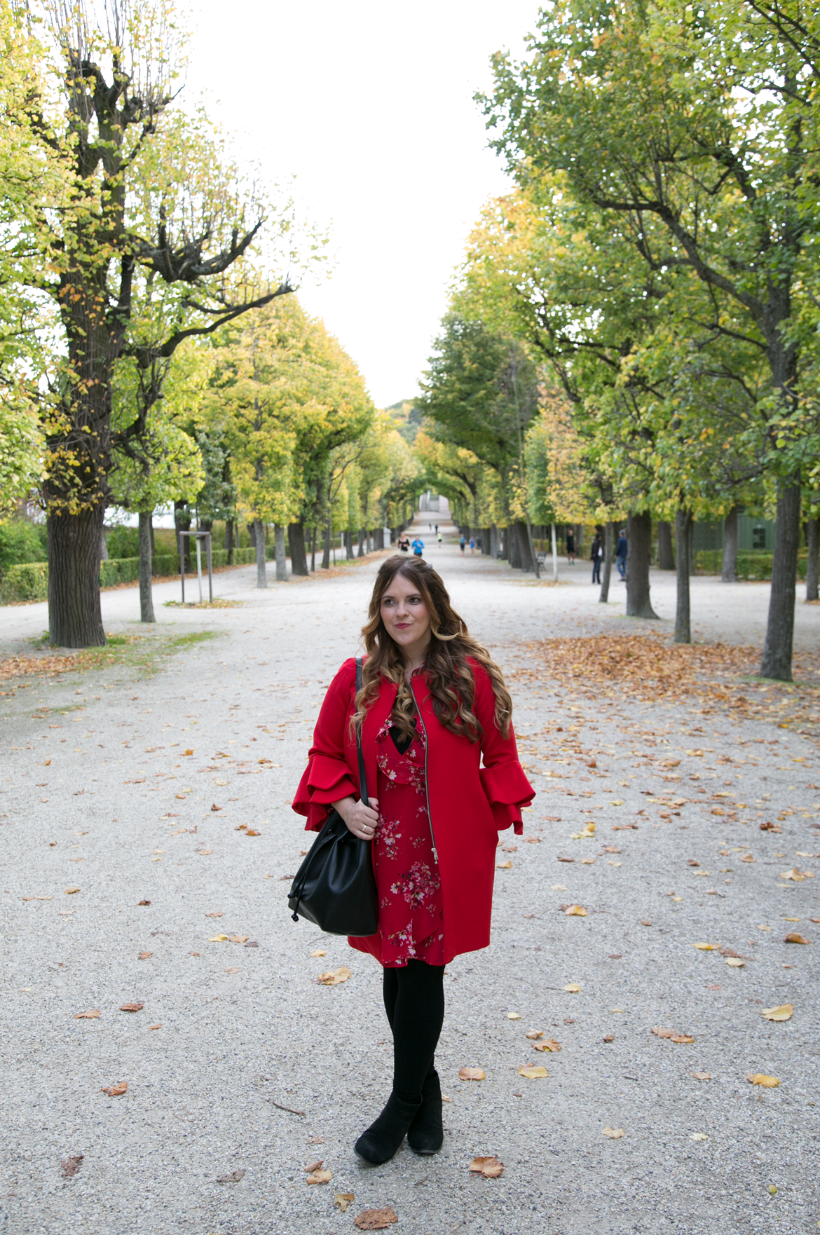 Red Flute Sleeve Coat