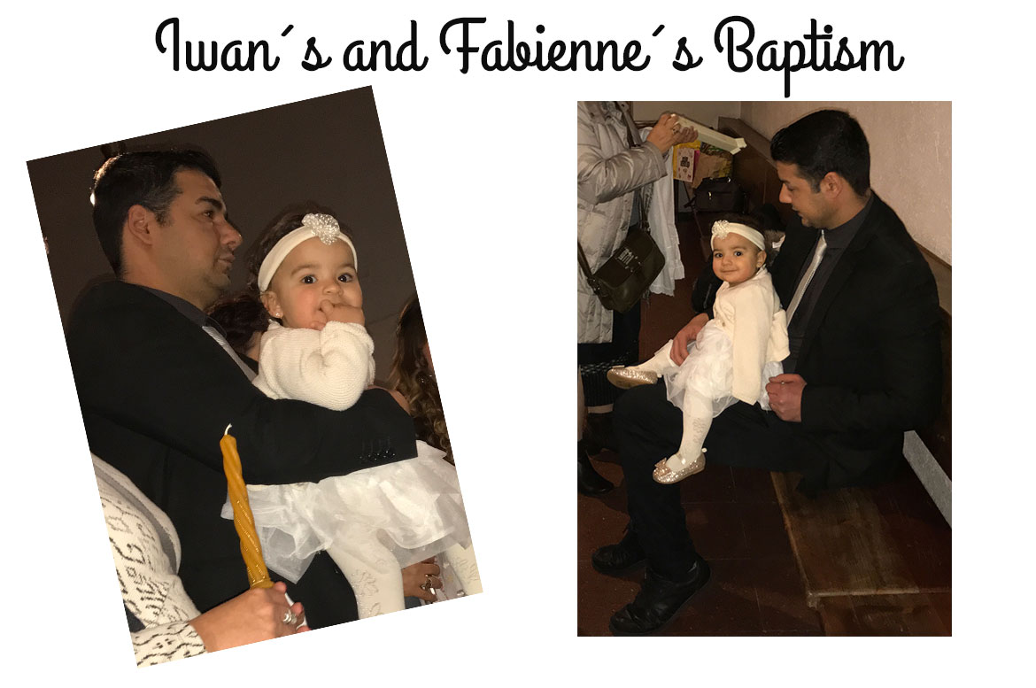 Iwan and Fabienne at their baptism